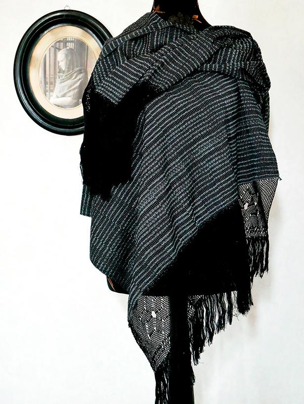 rebozo classic geometro negro 6Gal